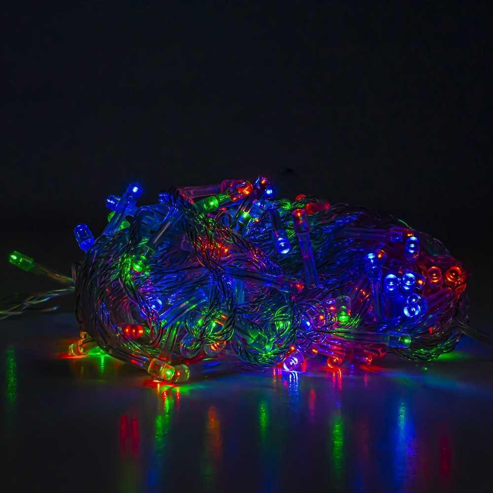 Instalatie pom Craciun, 140 becuri Xenon, 11 m, multicolora